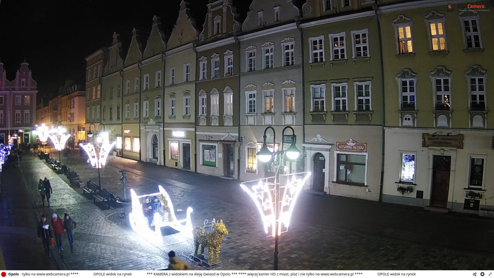 opole poland plaza via webcam new year's dyy 2020