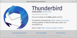 Thunderbird e-mail v.72